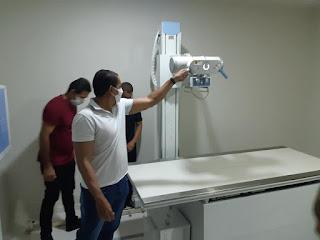 Prefeito inaugurou  aparelho de Raio-X no Hospital dos Trabalhadores Rurais Rio do Pires