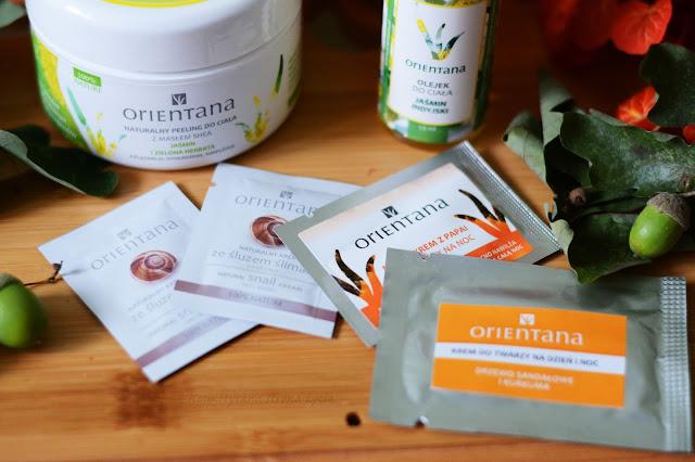Orientana próbki, Orientana naturalny peeling do ciała jaśmin i zielona herbata, olejek do ciała jaśmin