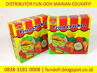 Fun-Doh Fried Chicken, fun doh indonesia, fun doh surabaya, distributor fun doh surabaya, grosir fun doh surabaya, jual fun doh lengkap, mainan anak edukatif, mainan lilin fun doh, mainan anak perempuan