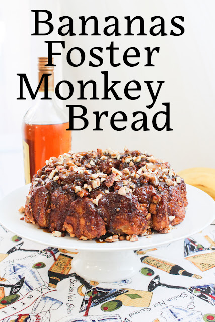 Food Lust People Love: Bananas Foster Monkey Bread takes everyone's favorite pull apart loaf (usually made with bread dough balls rolled in sugar) to a whole new holiday level with bananas and rum. Put one of these guys on your party table and watch it disappear.