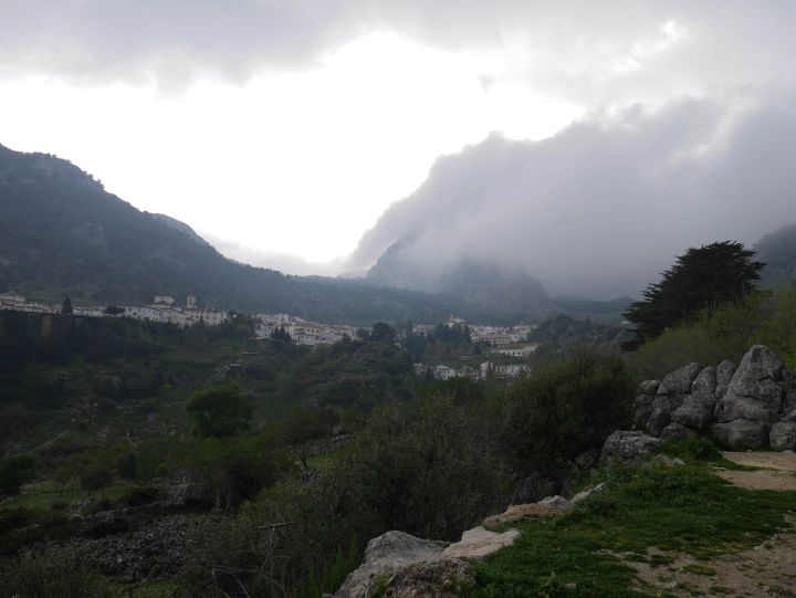 view to Grazalema in Sierra de Grazalema, Spain
