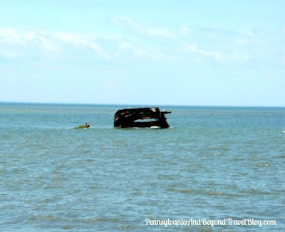 S.S. Atlantus Sunken Concrete Ship in Cape May New Jersey