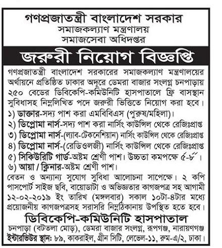 Department of Social Services DSS Job Circular