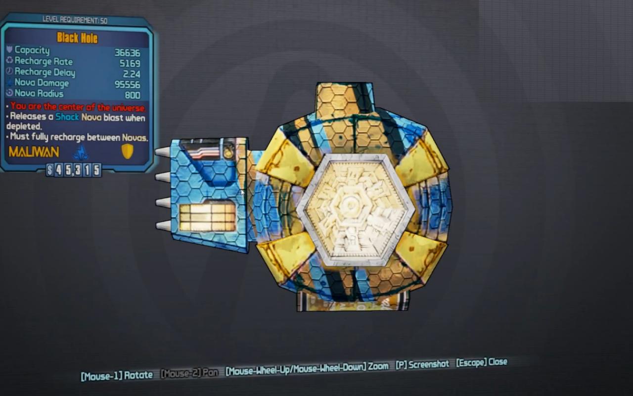 Borderlands 2 Legendary Shields