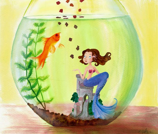 decorative fish bowl ideas, fish bowl decorations for girls