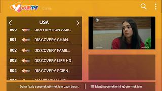 VUP TV Apk ile Çok güzel Kanal Siralamasi ve film Sinma izle - 2019