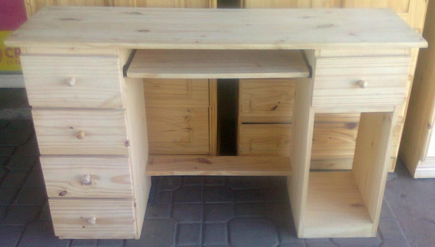 Pichon muebles mesa y escritorio de pc en pino - Escritorio de pino ...