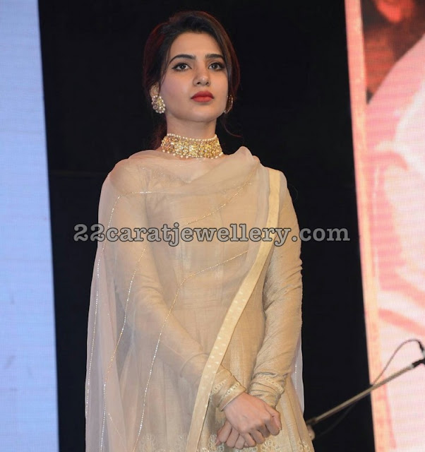 Samantha in Kundan Choker Jhumkas