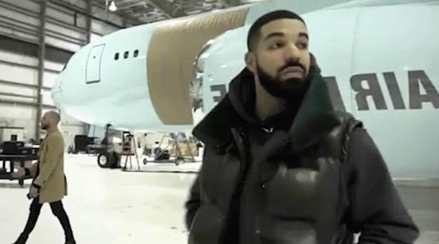 Drake shows off his newly acquired private jet- Video