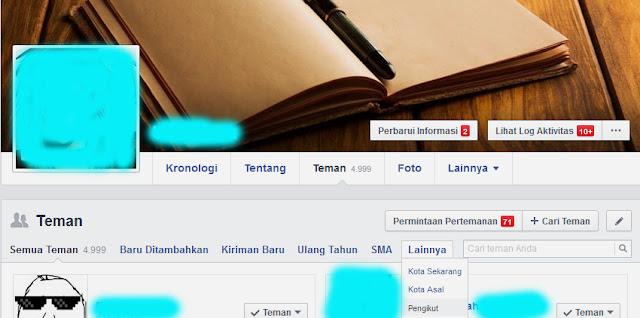 Cara Mengetahui Siapa Saja Followers Kita di Facebook