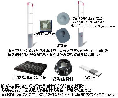 無線射頻式防盜系統,RF防盜