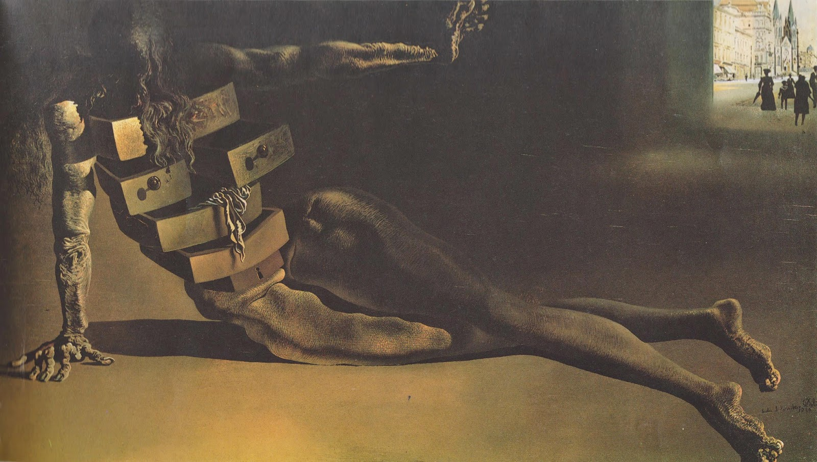 The Anthropomorphic Cabinet (1936) by Salvador Dalí