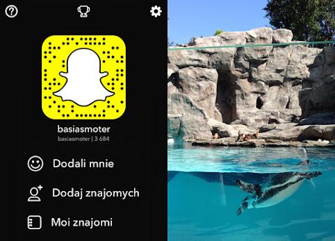 Co to jest Snapchat? Cała prawda o Snapchacie. Kto tam nagrywa i dlaczego? Jak wygląda mój profil - basiasmoter na snapchacie.