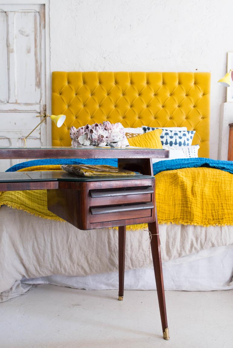 La trastienda de Rue Vintage cabecero amarillo