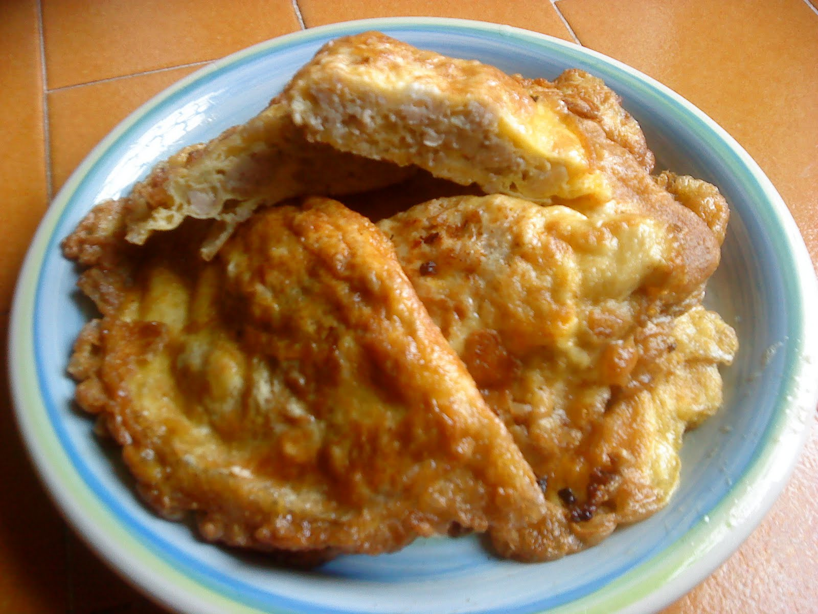 The recipe for mincemeat in an omelette