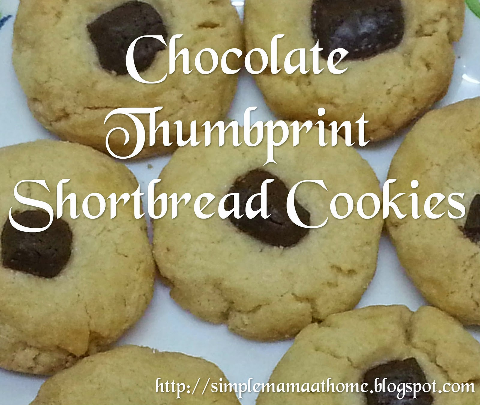 Chocolate Thumbprint Shortbread Cookies