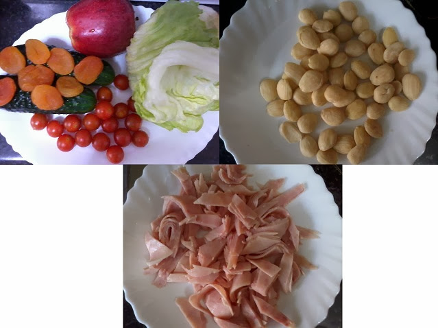 Receita de salada com damasco e maça