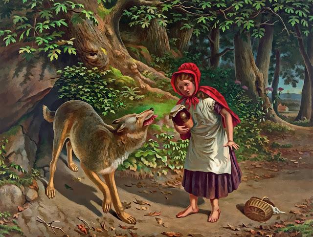 Rätsel mit Rotkäppchen Märchen, Rätsel Märchen, Raten für Demenz