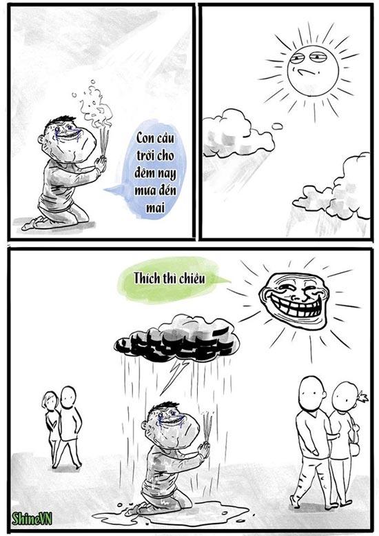 Tranh vui hội FA cầu mưa