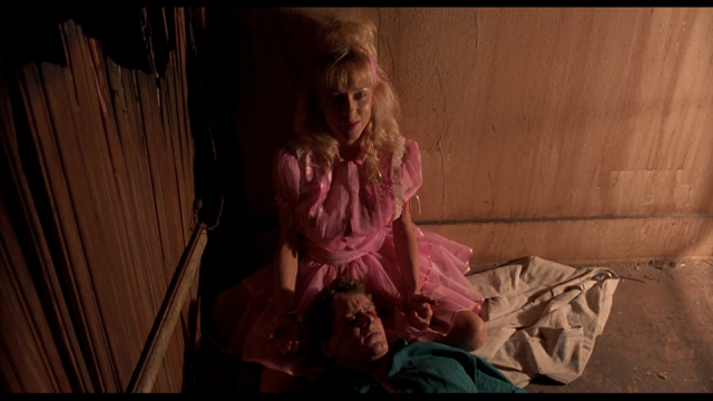NIGHT OF THE DEMONS: Demonic Suzanne (Linnea Quigly) has gouged out Jay's eyes