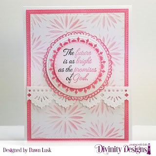 Divinity Designs Stamp Set: Stamp Set: The Future, Mixed Media Stencil: Flower Burst, Custom Dies: Beautiful Borders, Circles, Double Stitched Circles, Fancy Circles, Pierced Circles, Double Stitched Rectangles, Pierced Rectangles