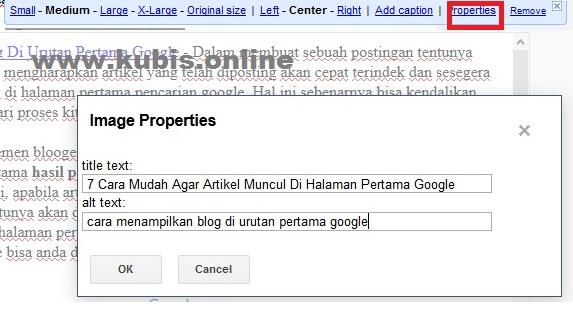 Lihat Cara Agar Blog Tampil Dihalaman Pertama Google paling mudah