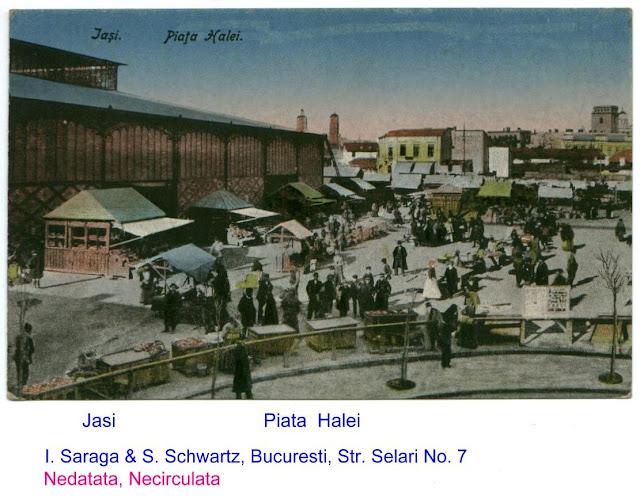 Hala metalică și piața de pe locul Esplanadei Halei Centrale