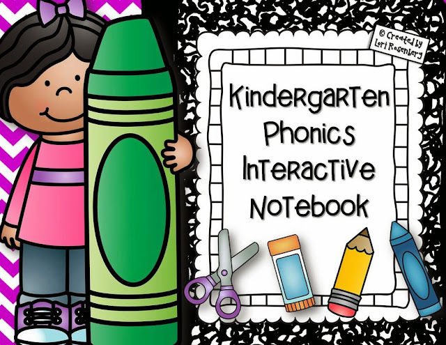 Kindergarten Phonics Interactive Notebook Activities