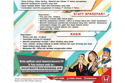 Lowongan Pekerjaan Honda Lampung Raya Desember 2018