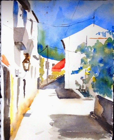 winter aquarelle malen