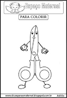 Desenho de tesoura para colorir