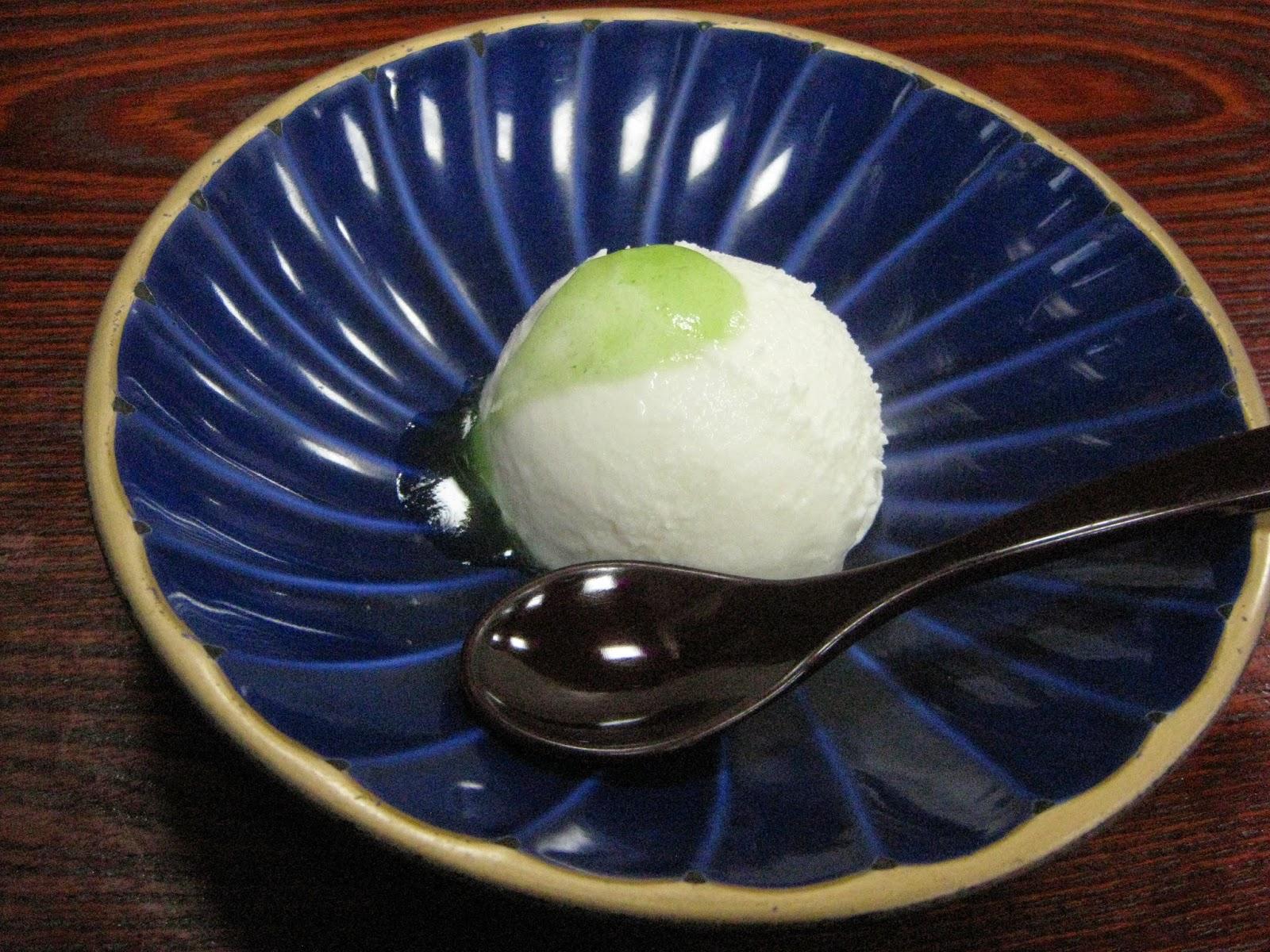 Tokyo - Tofu lunch course #7 - tofu ice cream