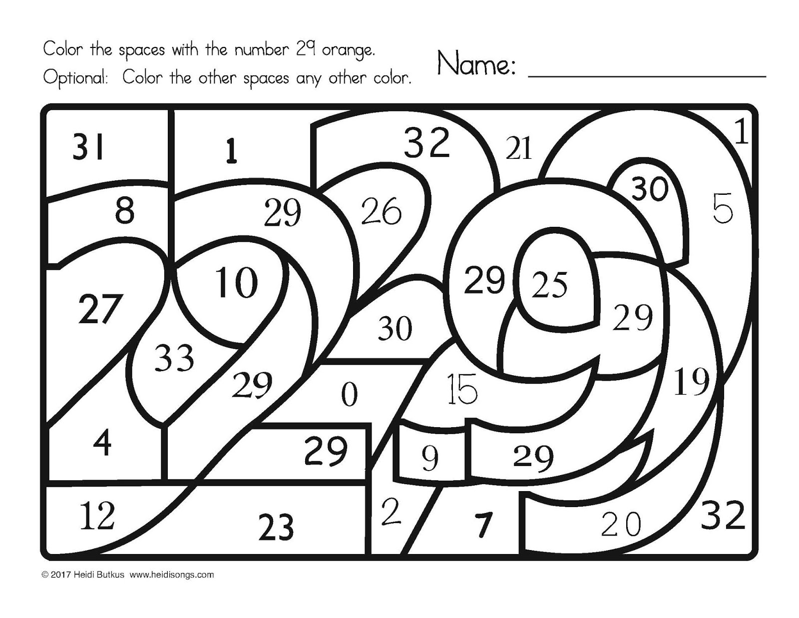 Find The Number! 1-30 Worksheets