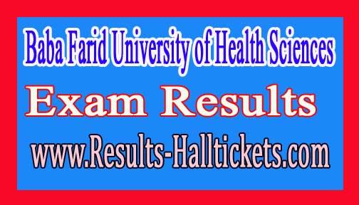 Baba Farid University of Health Science M.Sc Nursing IInd Year MJ-2k16/2 May/June 2016 Exam Results