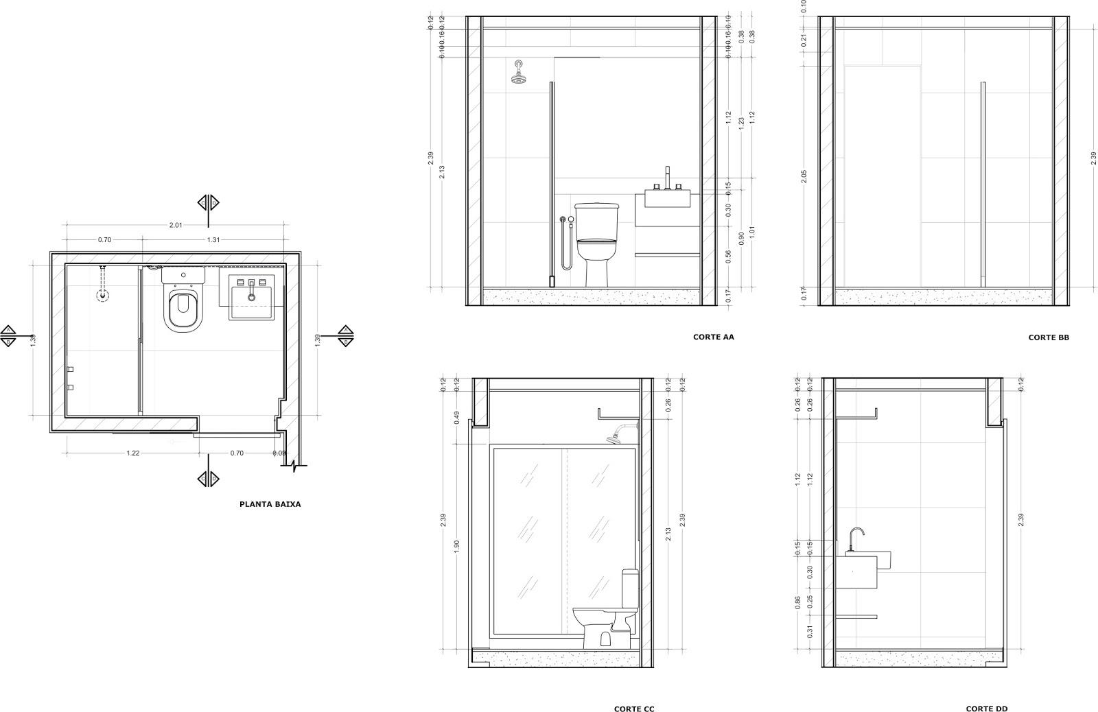 ARQUITETA MARIA HELENA TORRES REFORMA DE APARTAMENTO EM SP (VILA MARIANA)   -> Banheiro Simples Com Planta