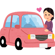 車好きのイラスト(女性)