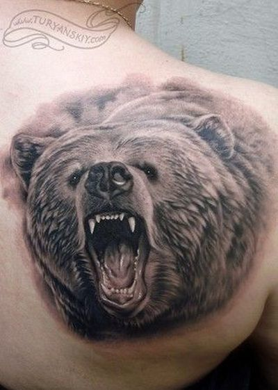 70+ Best Grizzly Bear Tattoos for Men (2019) Tribal Pictures