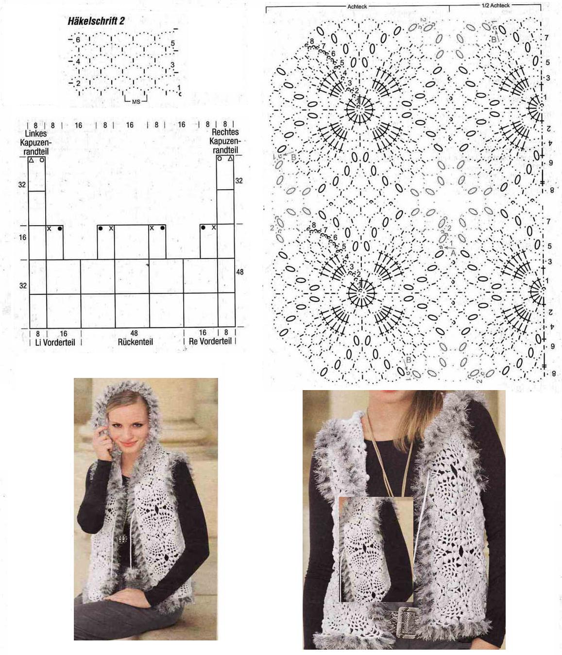 Patron Crochet Chaleco Combinado - Patrones Crochet