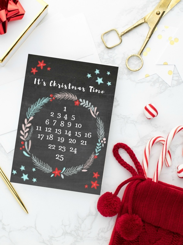 Free printable Kids Advent Calendar in 2 colors for you to download & print| Ioanna's Notebook