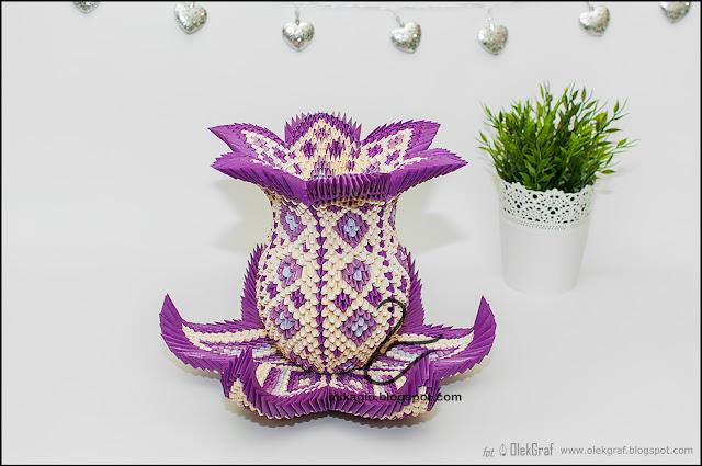 527. Waza z origami / 3d origami vase