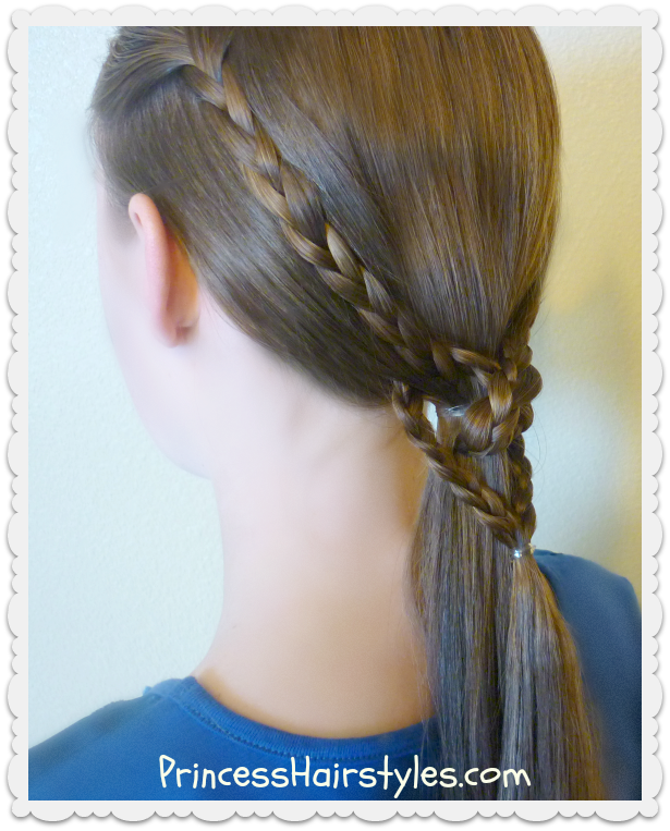 2 Easy Heart Knot Ponytails, Valentine's Day Hairstyles | Hairstyles For Girls - Princess Hairstyles