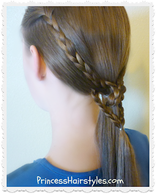 Heart knot ponytail hair tutorial