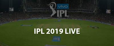 VIVO IPL 2019 LIVE MATCH SCORE