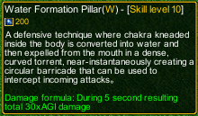 naruto castle defense 6.0 Water Formation Pillar detail