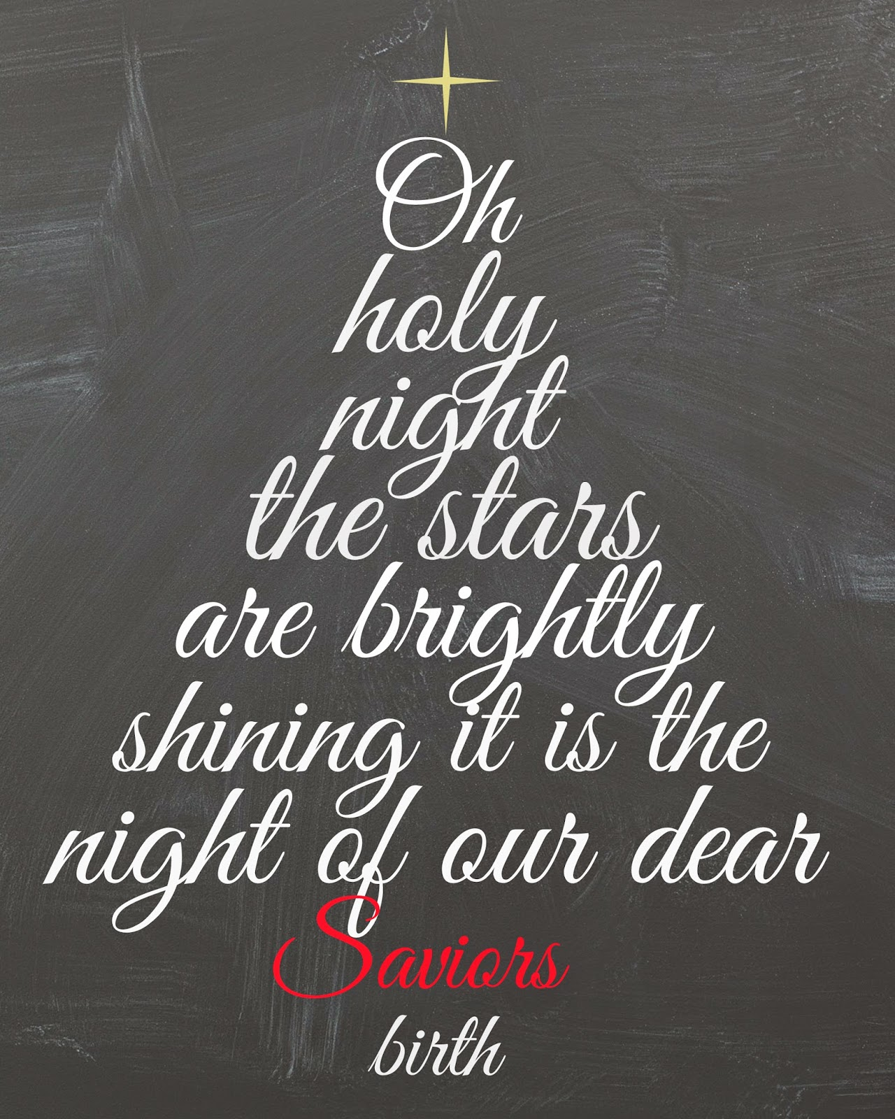 Mimi Lee Printables & More: Oh Holy Night- FREE CHALKBOARD
