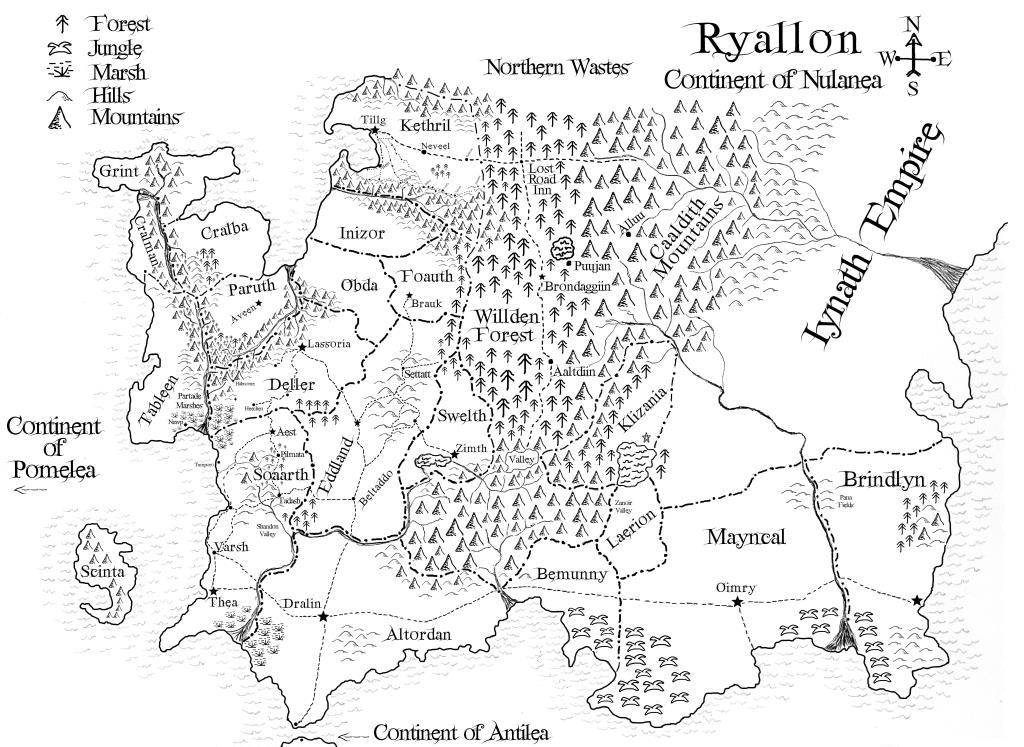 the world of ryallon fantasy maps of ryallon