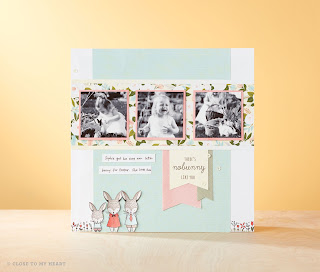 Easter Scrapbook Layout CTMH