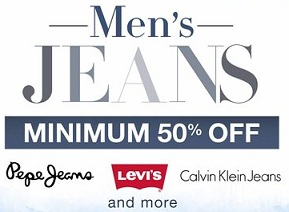 Men's Top Brand Jeans  Minimum 50% Off starts Rs.398 @ Amazon