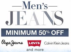 Men's Top Brand Jeans Minimum 55% Off starts Rs.384 @ Amazon