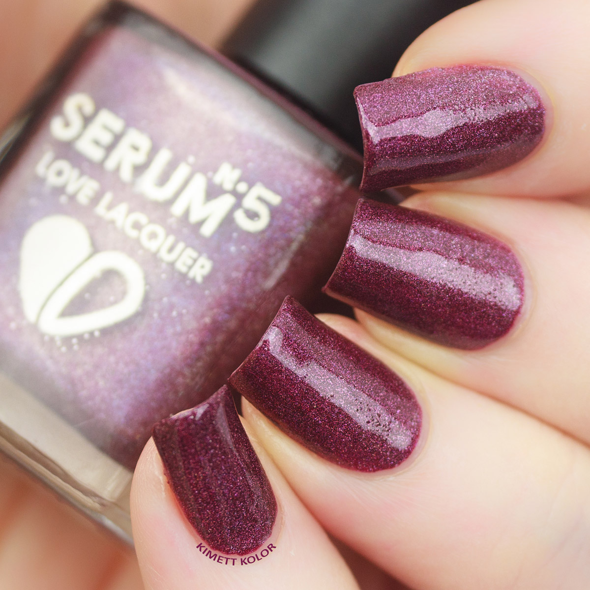 Kimett Kolor Plum Luck Nail Polish by SerumNo5
